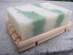Beveled Pine Soap Dish - Slotted