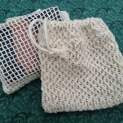 Natural Cotton Soap Bag