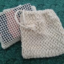 Natural Cotton Soap Bag